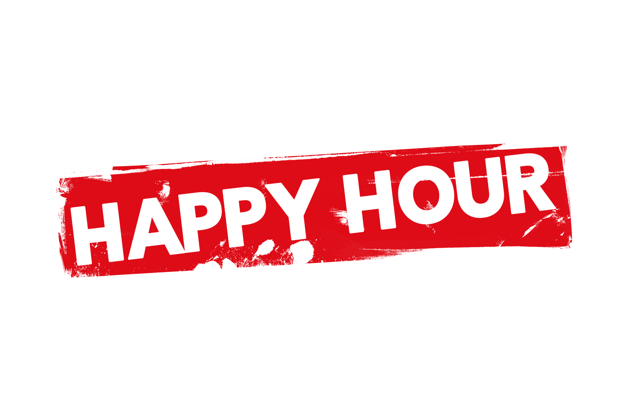 Grunge happy hour label PSD - PSDstamps