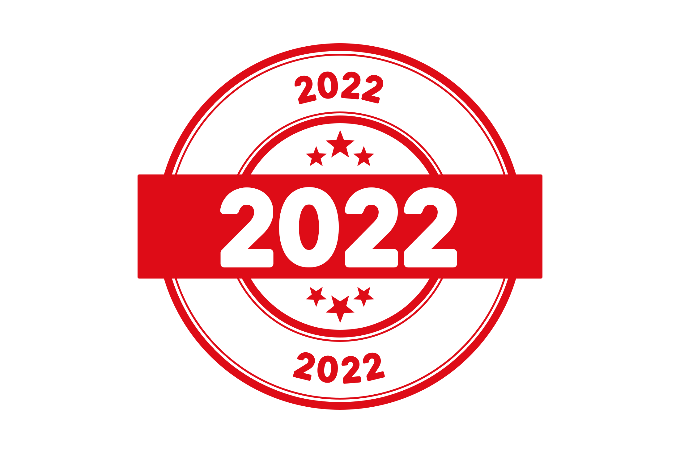 Round 2022 stamp PSD