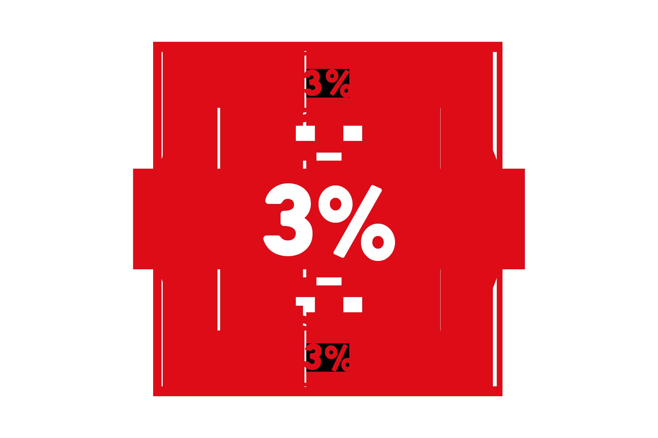 Round 3 percent stamp PSD