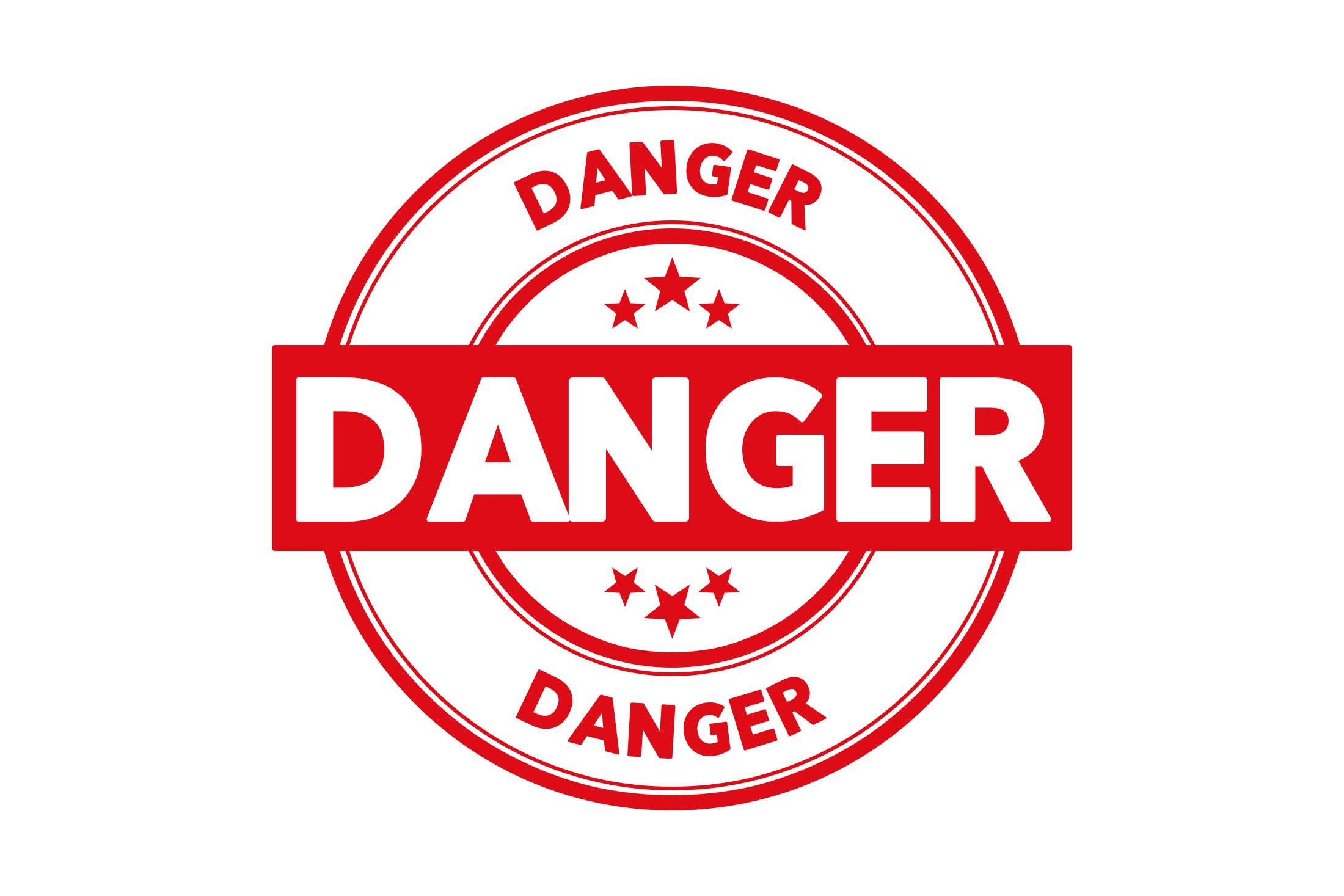 Round danger stamp PSD