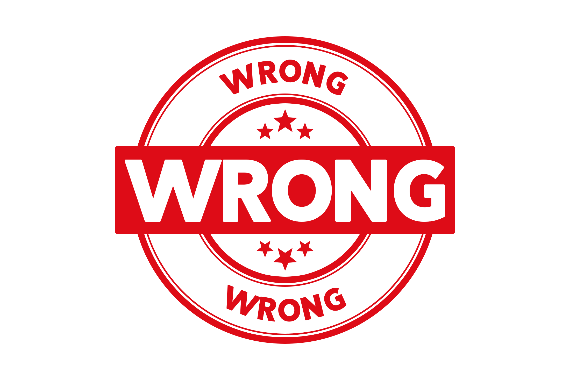 Round wrong stamp PSD