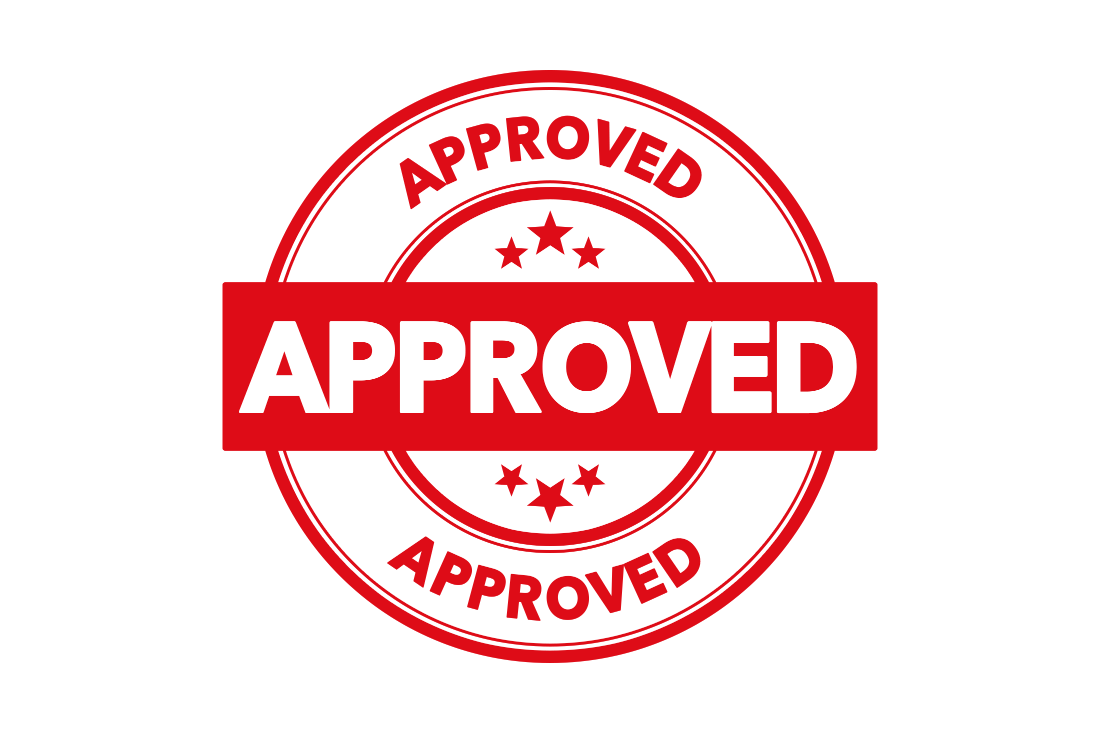 Round approved stamp PSD