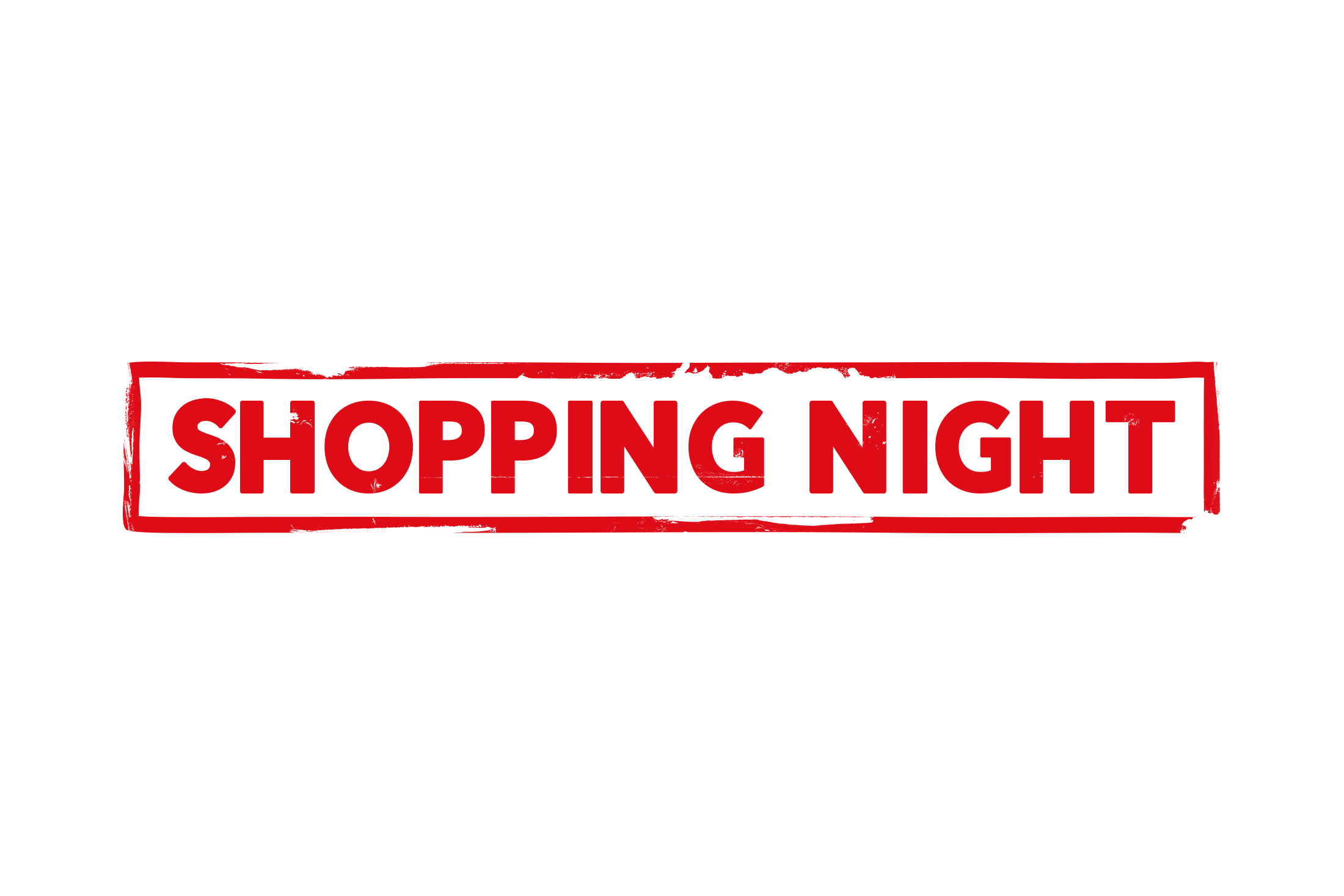 Shopping night stamp PSD