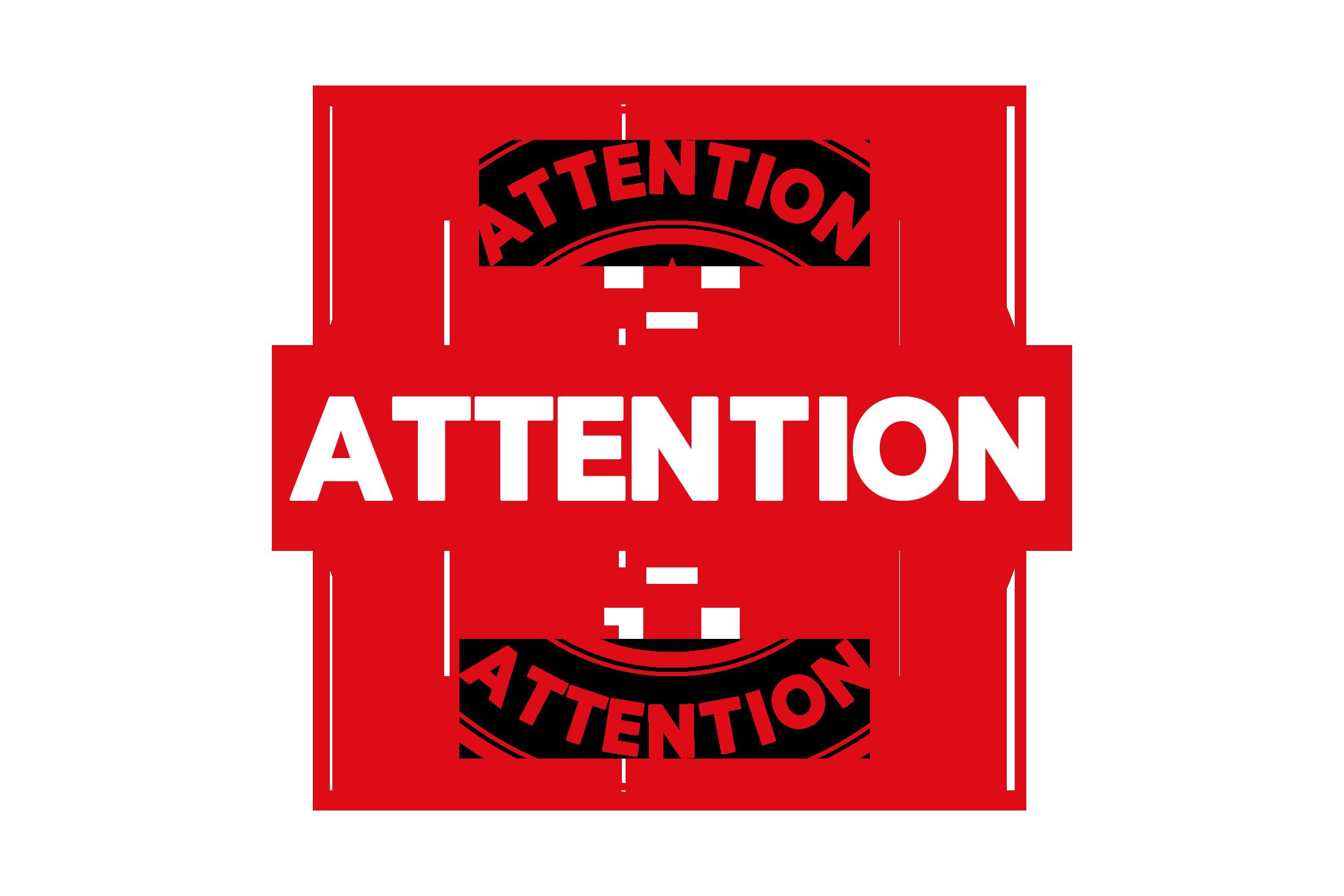 Round attention stamp PSD